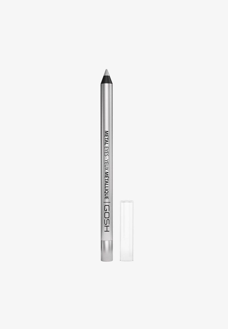 Gosh Copenhagen - METAL EYES - Eyeliner - 004 silver stone