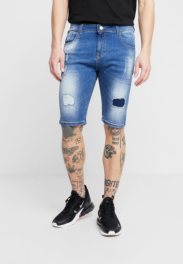 LINCOLN  - Shorts di jeans - mid blue
