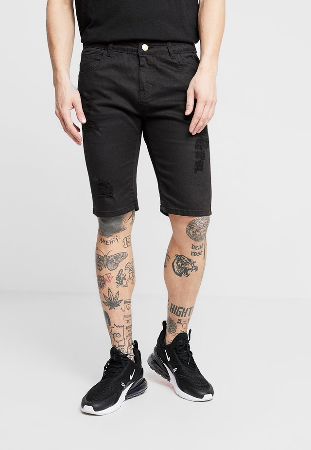 MURRY - Jeansshorts - black