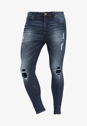 FADED DISTRESSED MID-RISE - Jeans Skinny Fit - mid blue