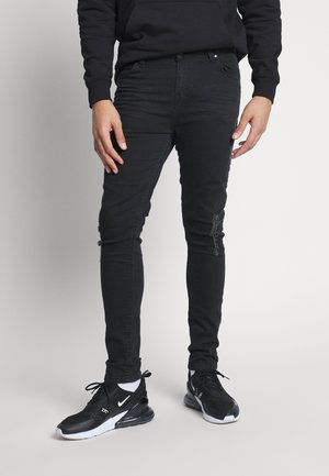 FADED DISTRESSED MID-RISE - Jeans Skinny Fit - black