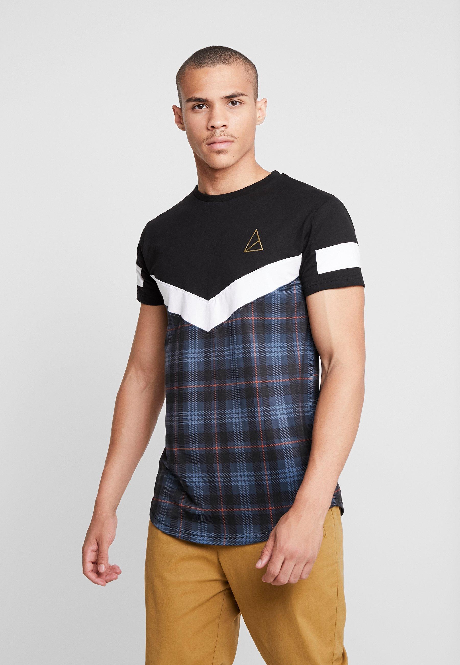 Blue Imprimé VictoriaT shirt Golden Equation SqzUpGMV