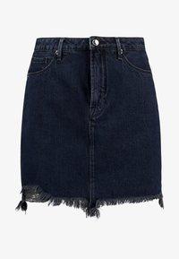 Good American - SKIRT FRAYED HEM - Denim skirt - blue - 7