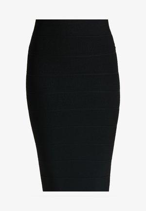 BANDAGE MIDI SKIRT - Pouzdrová sukně - black