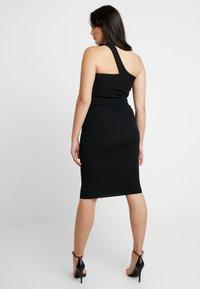 Good American - ASYM DRESS - Pouzdrové šaty - black - 7