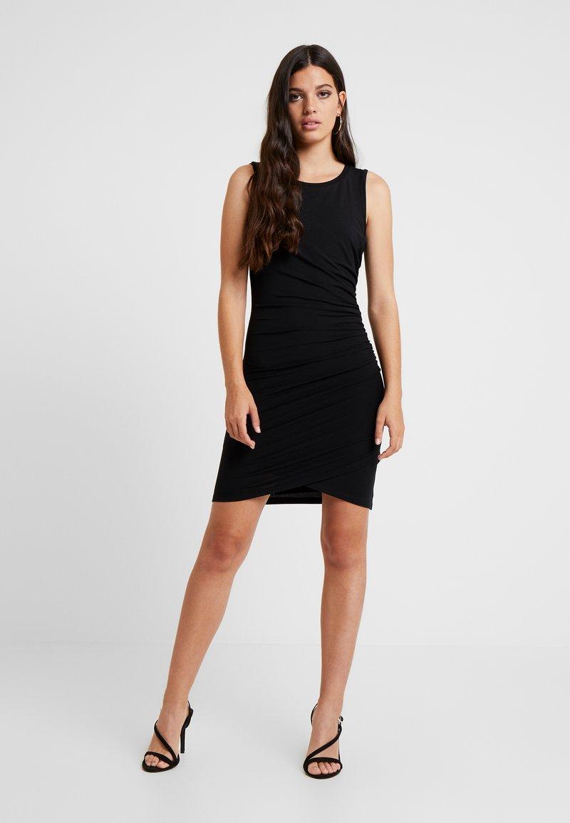 Good American - CROSS DRESS - Robe fourreau - black