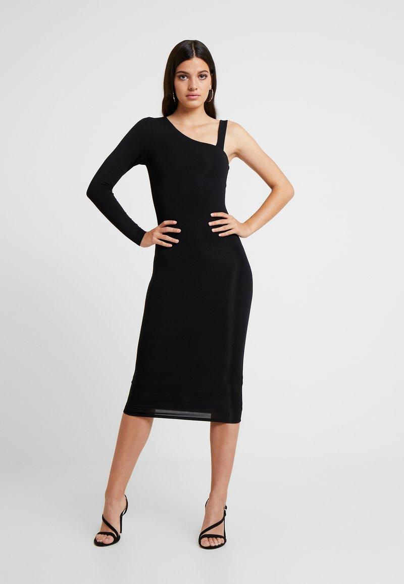 Good American - ASYM DRESS - Cocktailkjoler / festkjoler - black