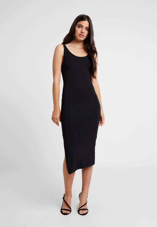 OPEN BACK MIDI DRESS - Shift dress - black