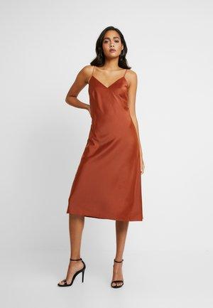 SPAGHETTI STRAP DRESS NEMI - Cocktailkleid/festliches Kleid - copper