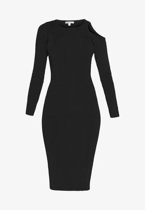 COLD SHOULDER BODYCON DRESS - Sukienka letnia - black