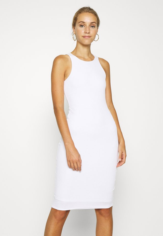 THE BODY SCULPTED MIDI DRESS - Fodralklänning - white
