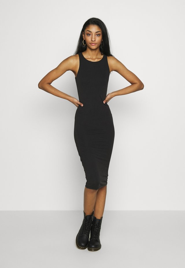 MICRO MINI DRESS - Jerseyjurk - black