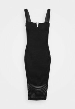 SHEER MIDI DRESS - Vestito estivo - black