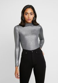 Good American - MOCK NECK - Topper langermet - silver - 0