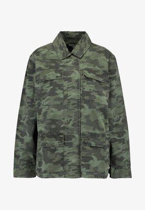 CAMO JACKET - Denim jacket - olive