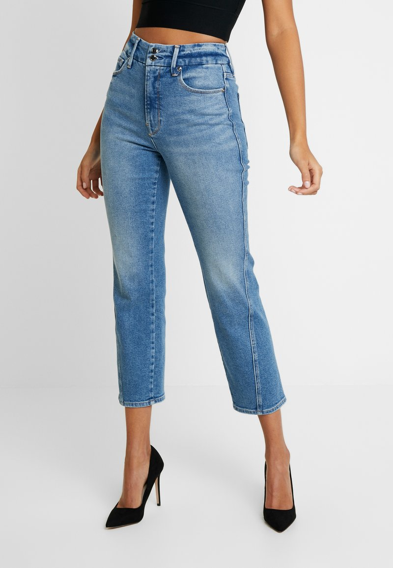 Good American - GOOD TWISTED SEAM - Jeans straight leg - blue