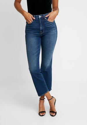 GOOD CURVE WESTERN BACK YOKE - Jean droit - blue