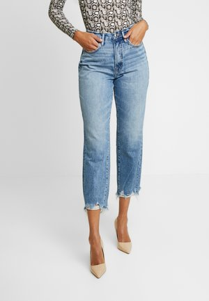GOOD VINTAGE CHEWED HEM - Straight leg jeans - blue