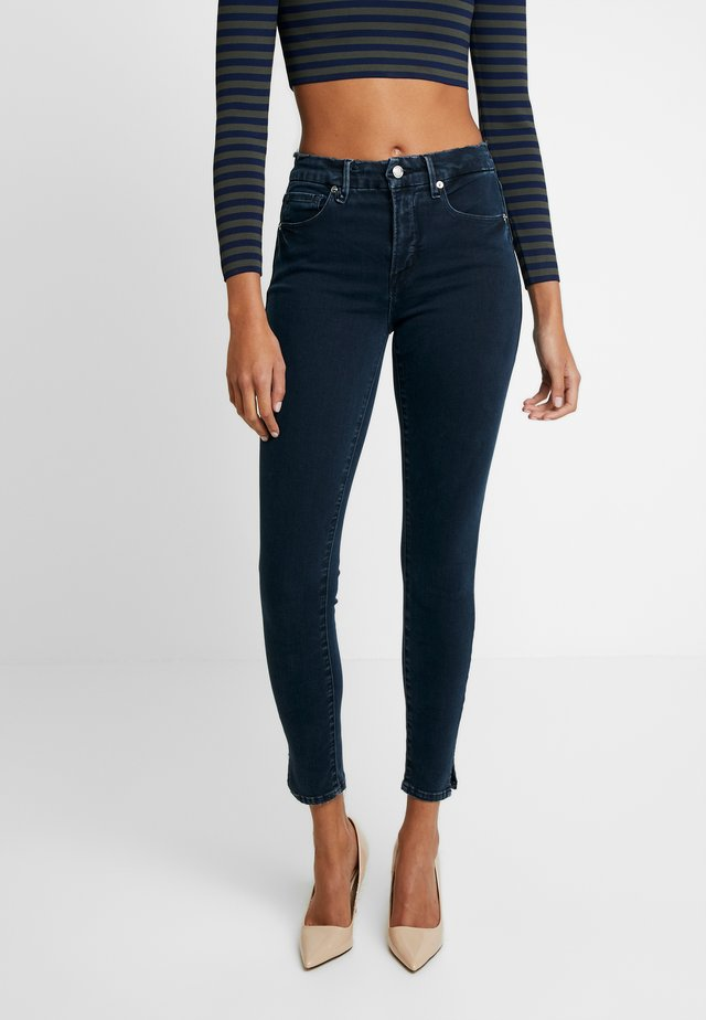GOOD LEG SIDE SLIT - Jeans Skinny Fit - blue