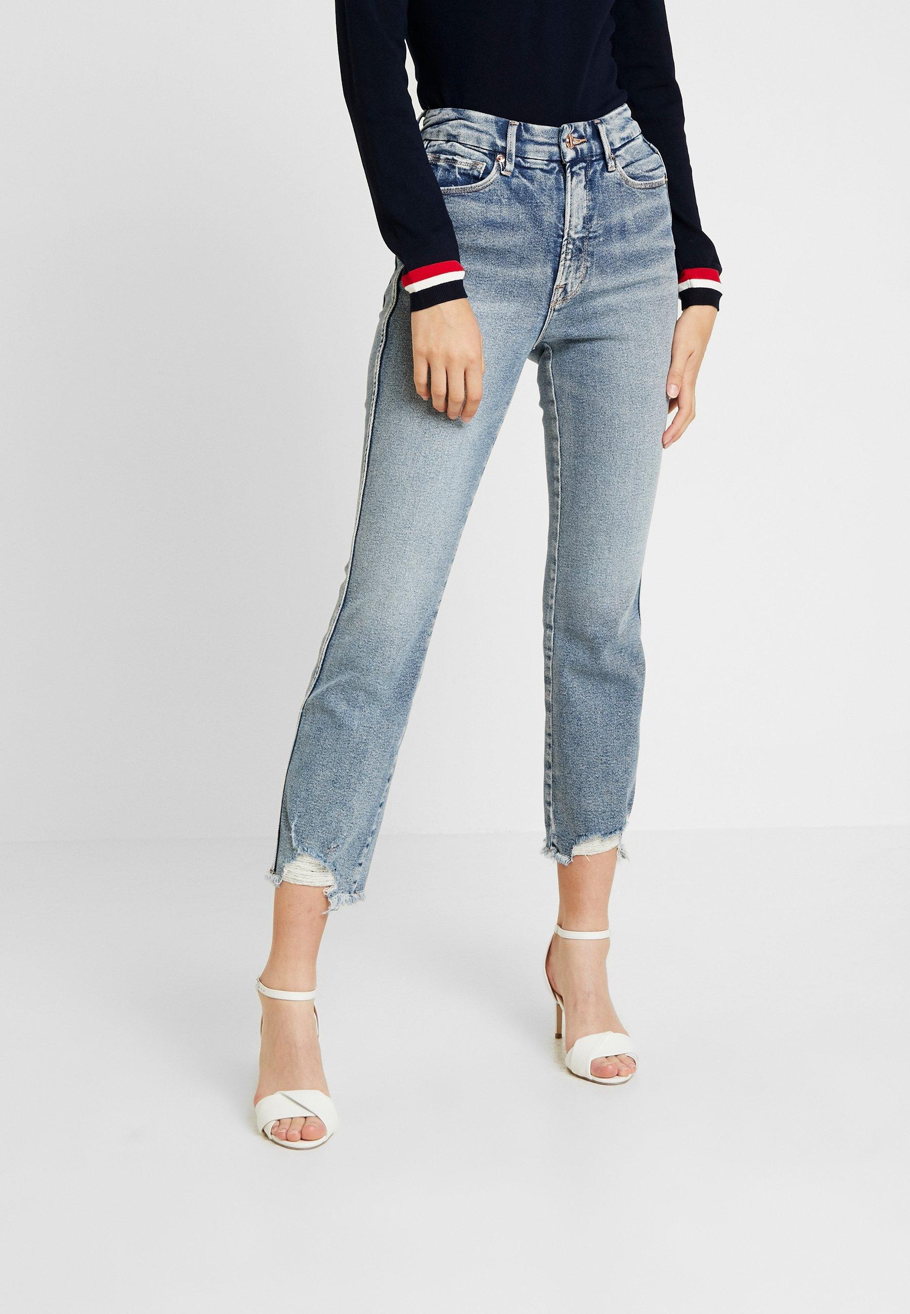 Good American - FRAY HEM - Straight leg jeans - blue