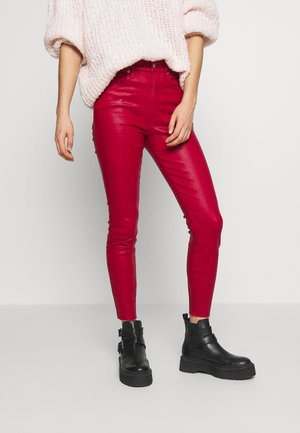 GOOD WAIST CROP - Jeans Skinny Fit - ruby