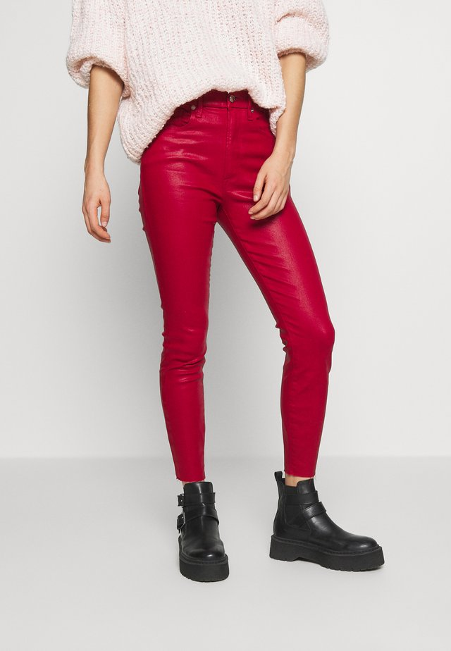 GOOD WAIST CROP - Jeansy Skinny Fit - ruby
