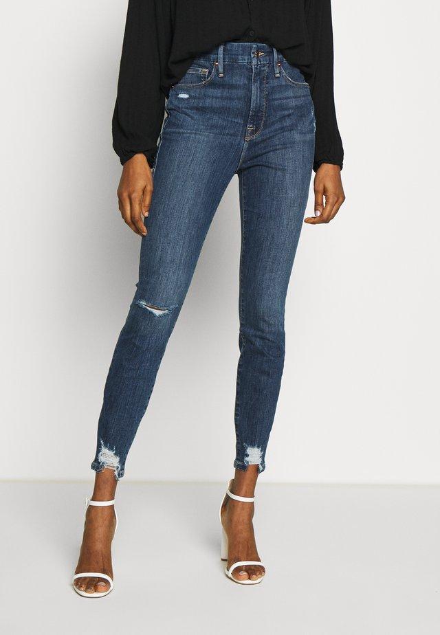 WAIST CHEWED HEM - Jeans Skinny Fit - blue