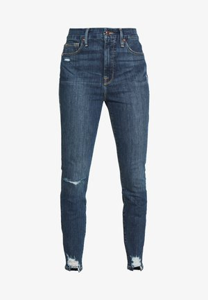 WAIST CHEWED HEM - Skinny džíny - blue