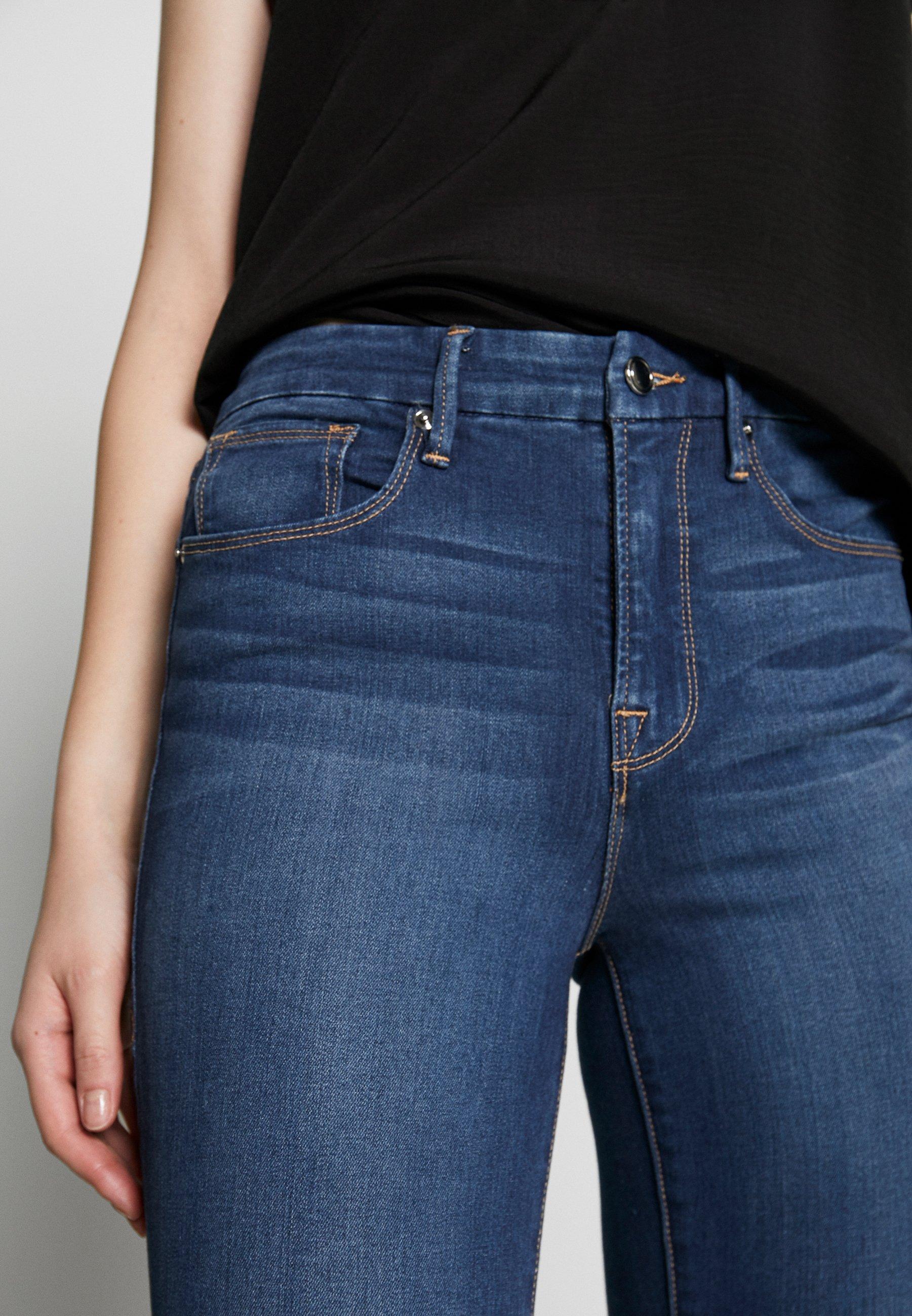 Good American Waist Crop - Jeans Skinny Fit Blue Denim