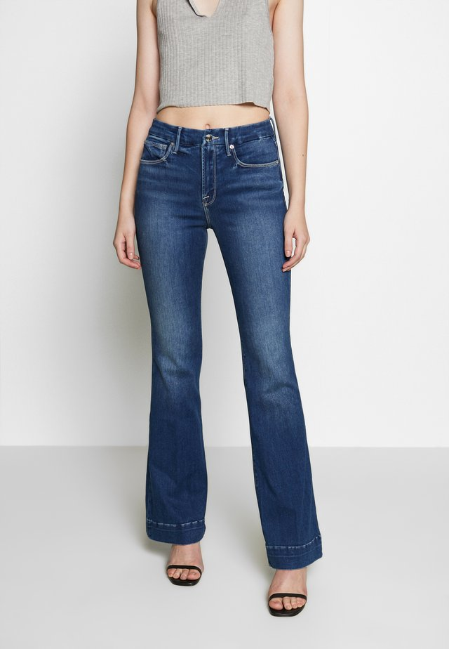GOOD FLARE - Flared jeans - blue denim