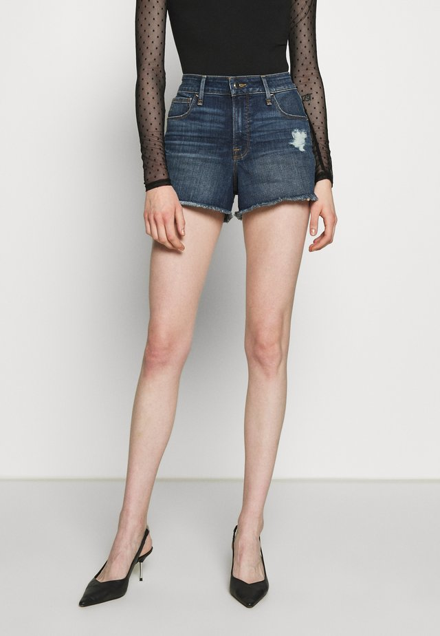 CUT OFF - Szorty jeansowe - blue
