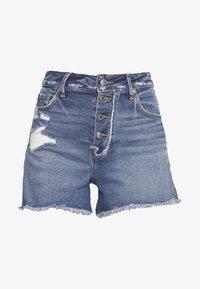 Good American - BOMBSHELL EXPOSED BUTTON - Denim shorts - blue - 6