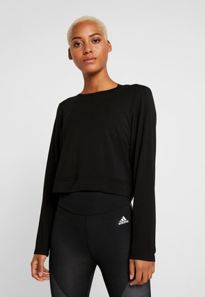 OPEN BACK - T-shirt à manches longues - black