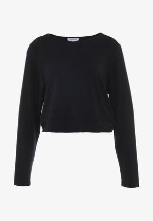 OPEN BACK - Long sleeved top - black
