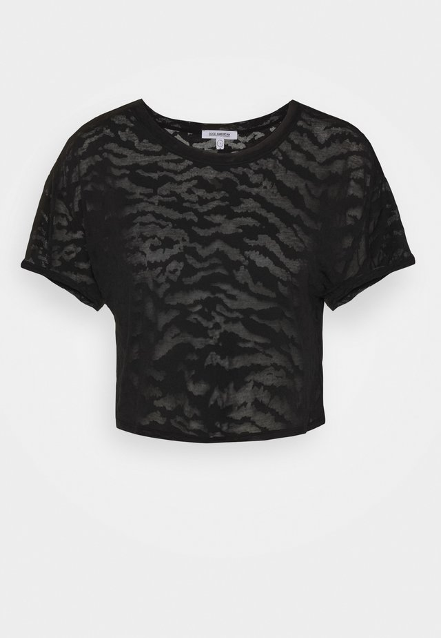 ZEBRA BURNOUT TEE - T-shirt con stampa - black
