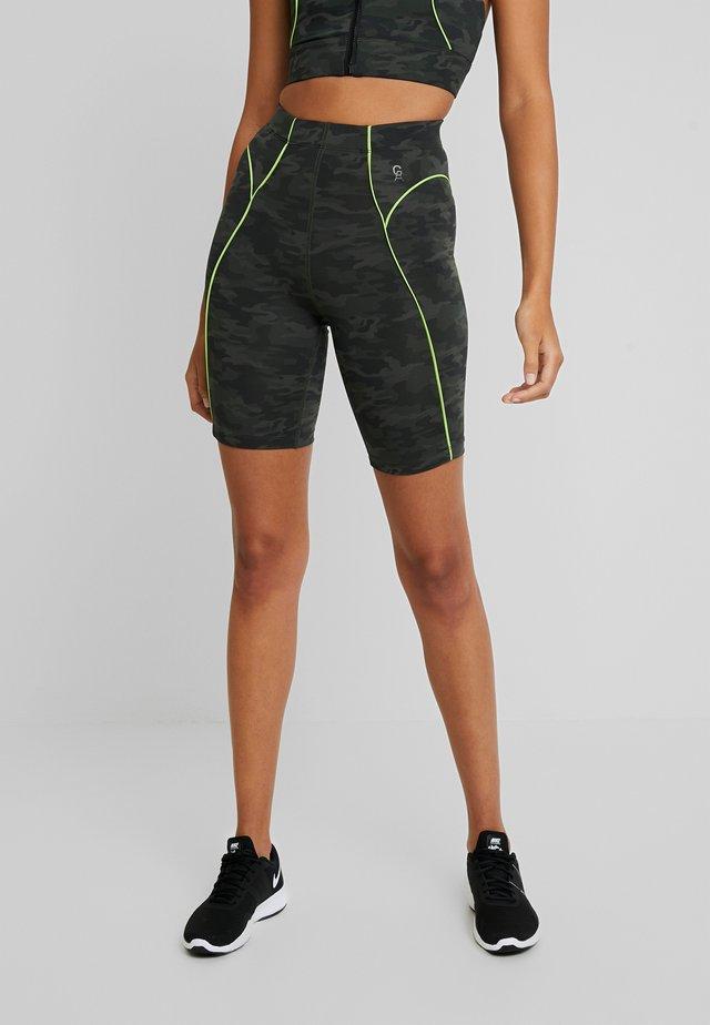 PIPED BIKE SHORT - Korte broeken - khaki