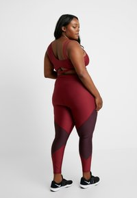 Good American - COLORBLOCK - Leggings - bordeaux - 2