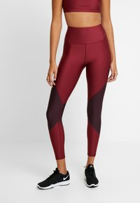 Good American - COLORBLOCK - Leggings - bordeaux - 0