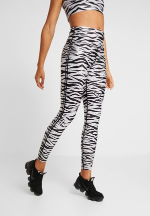 ZEBRA LEGGING - Tights - balck/white
