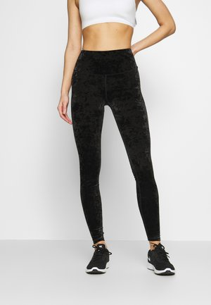CRUSHED LEGGING - Leggings - black