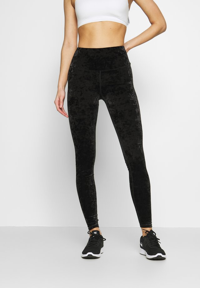 CRUSHED LEGGING - Collant - black
