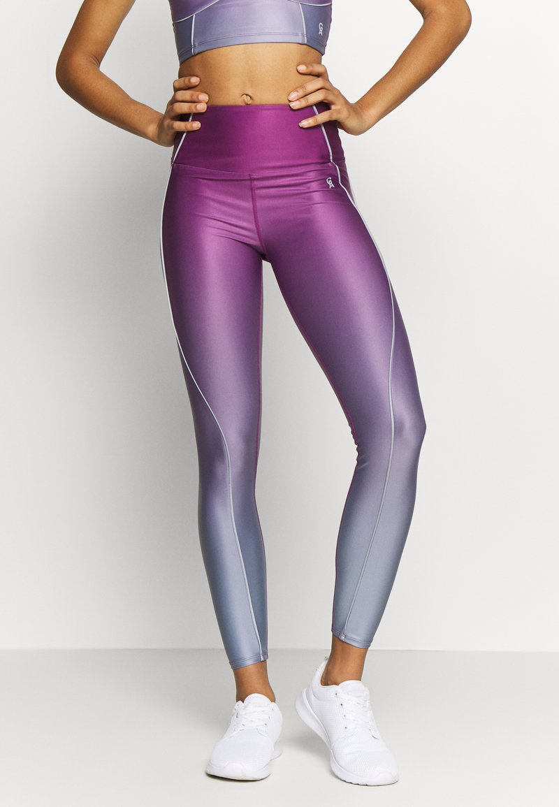Good American - OMBRE CONTOUR LEGGING - Tights - sunset