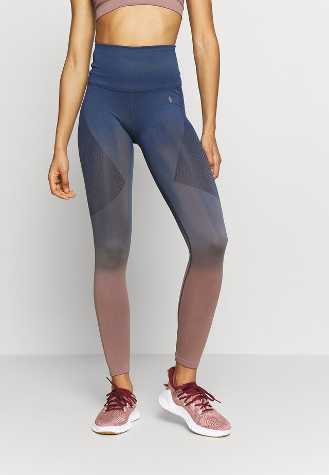DIP DYE SEAMLESS LEGGINGS - Tights - sunset