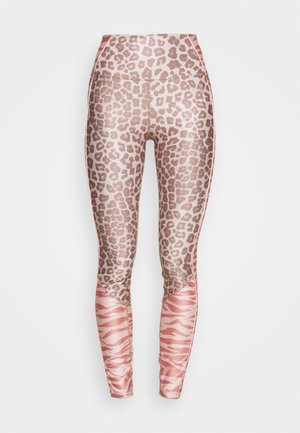 MIXED ANIMAL LEGGING - Tights - light pink