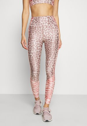 MIXED ANIMAL LEGGING - Legginsy - light pink