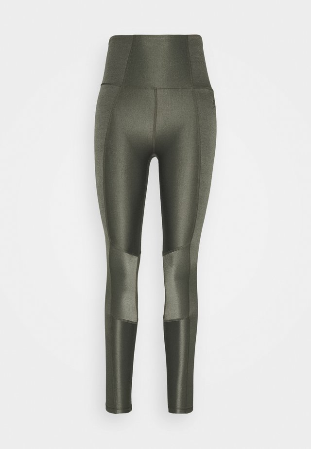 SHINY PANELED LEGGING - Collant - sage