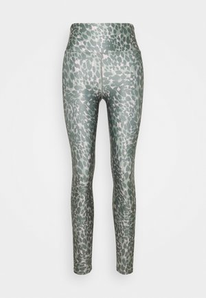 PRINTED CRISS CROSS SIDE LEGGING - Tights - khaki