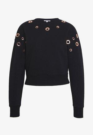 GROMMET SWEATSHIRT - Sweatshirt - black