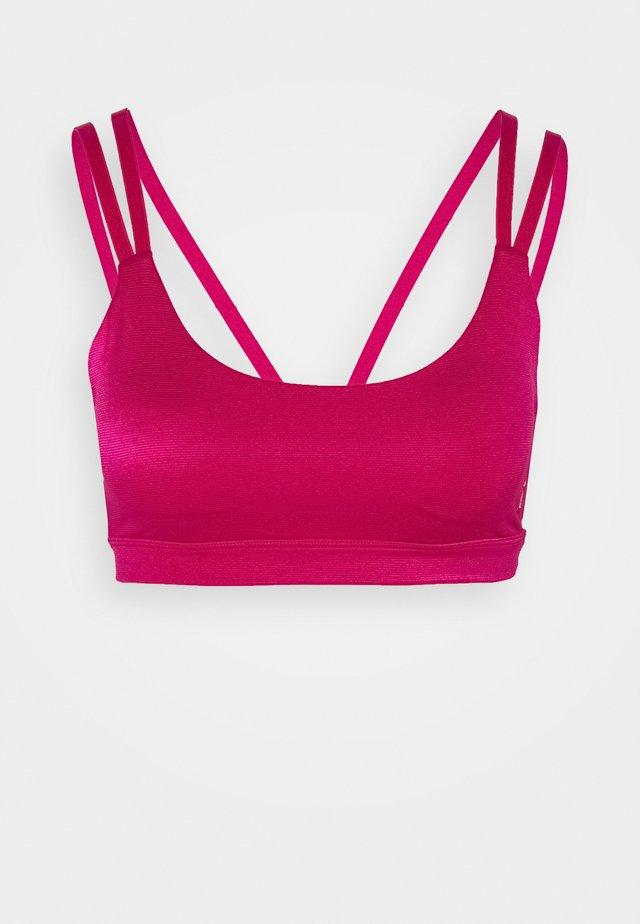 SHINY STRAP BRA - Sport-bh - electric pink