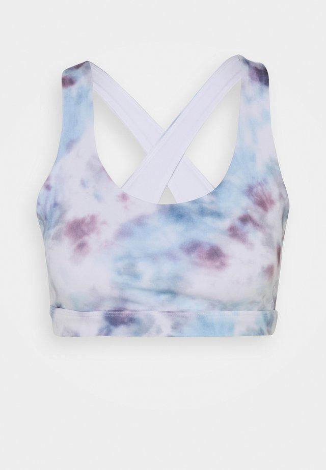 SHEEN PRINT CROSS BACK BRA - Sport-bh - light blue